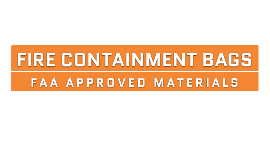 Fire Containment Bags for Electronics Text Image