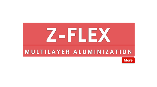 Z-Flex Multilayer Aluminization for Radiant Heat Protection Text Image